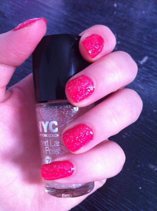 NYC Expert Last Nail Polish - 109 Permanent Pink 155 Gramercy Glitz
