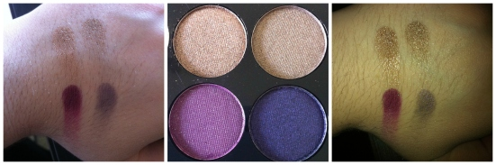 Clockwise from top left: Court in Cannes, Lust in LA, Bliss in Barcelona and Honeymoon in Hollywood