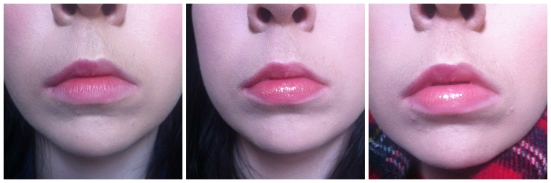 Sally Hansen Lip Inflation - Sheer Blush Before and After