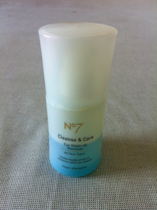 No 7 Cleanse and Care Eye Make Up Remover