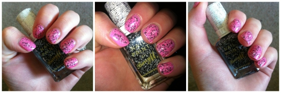 Barry M Confetti Nail Effects in 'Liquorice' over Illamasqua 'Loella'
